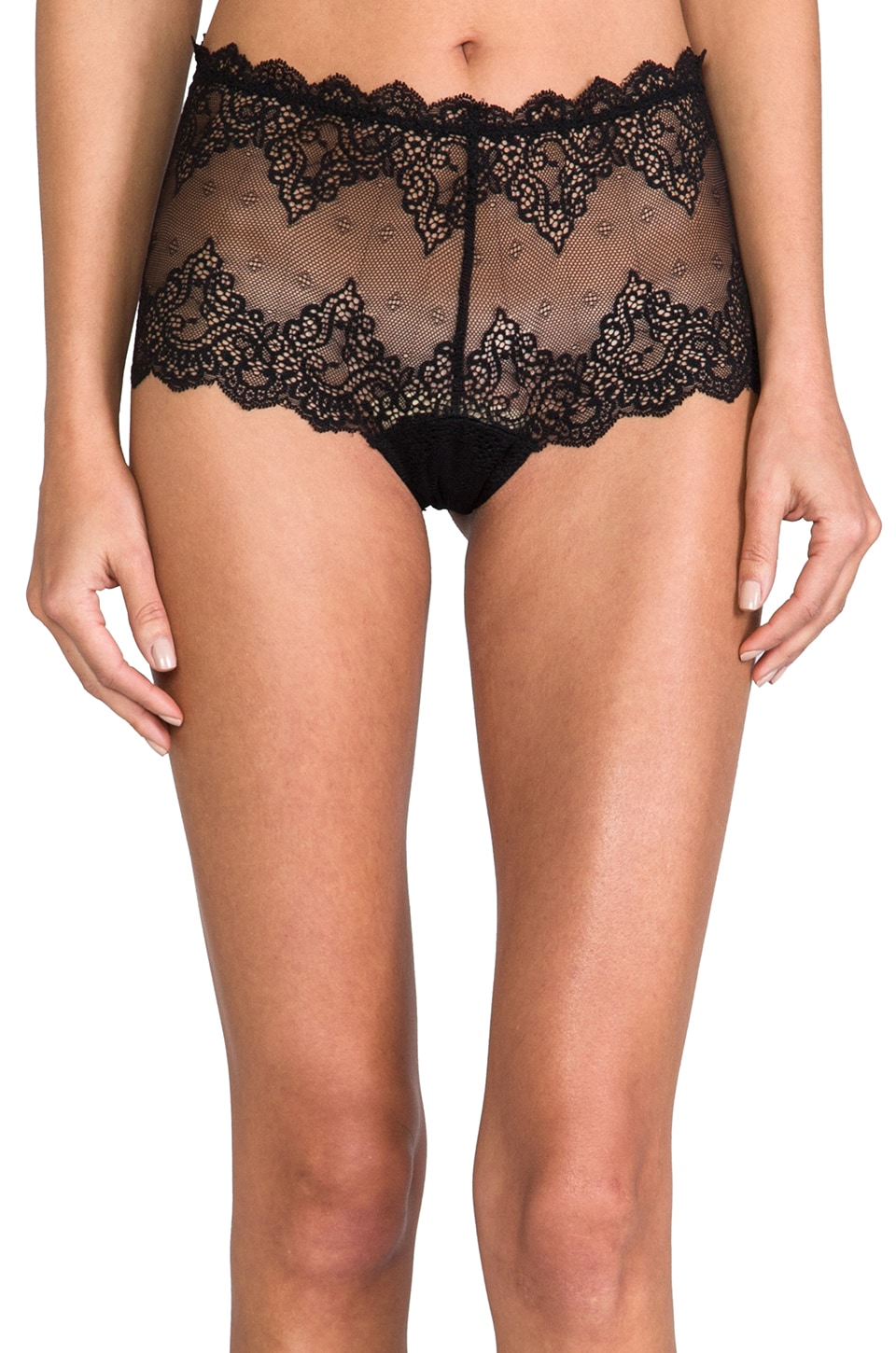 Only Hearts So Fine Lace Cheeky Brief in Black