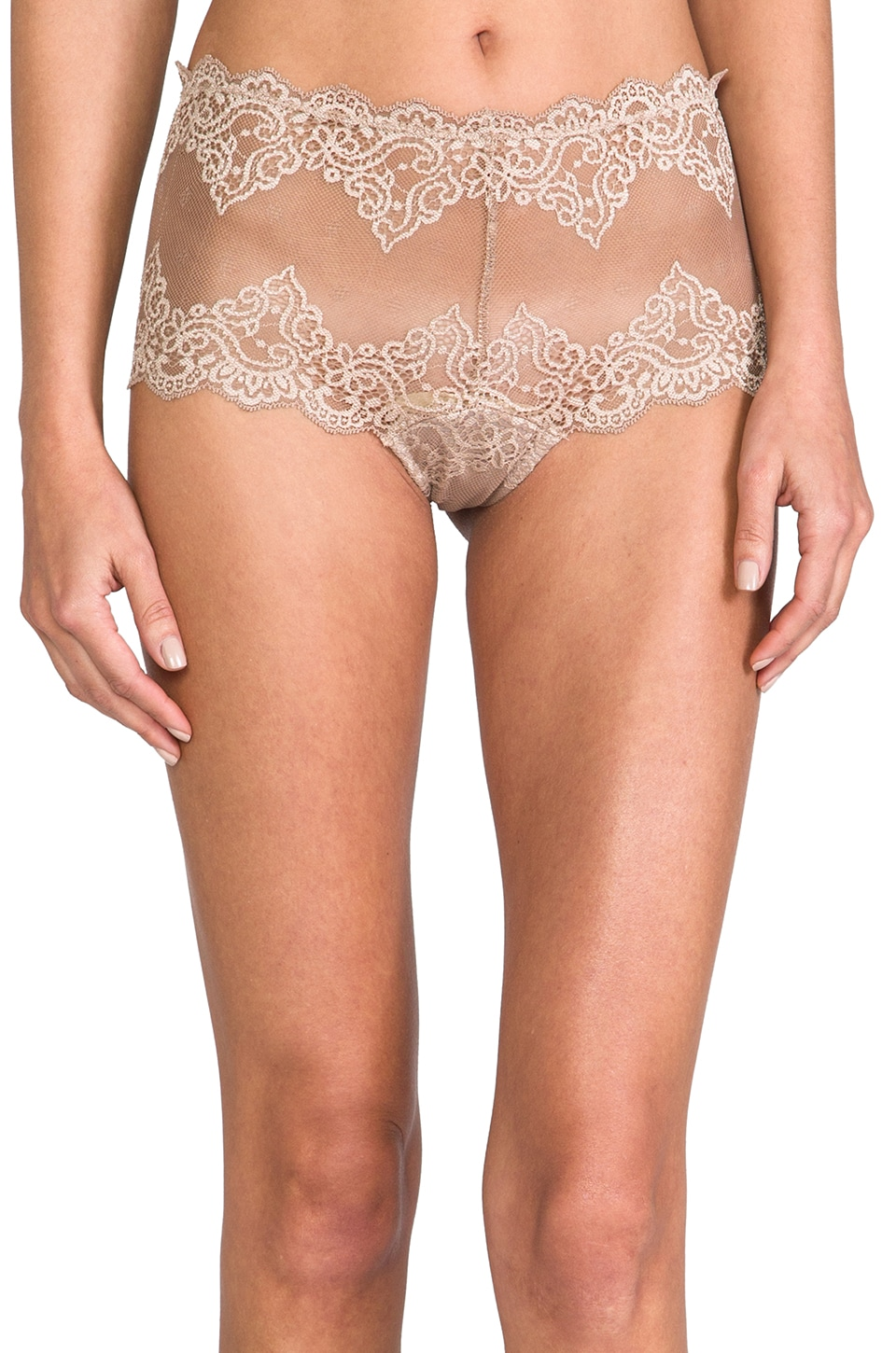 Only Hearts So Fine Lace Cheeky Brief in Caramel