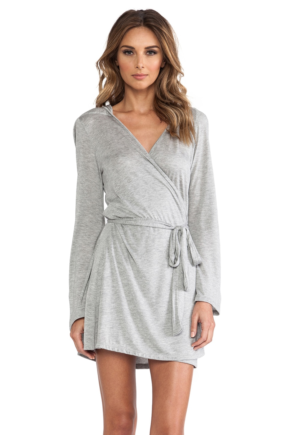 Only Hearts Venice Robe with Hood in Heather Grey