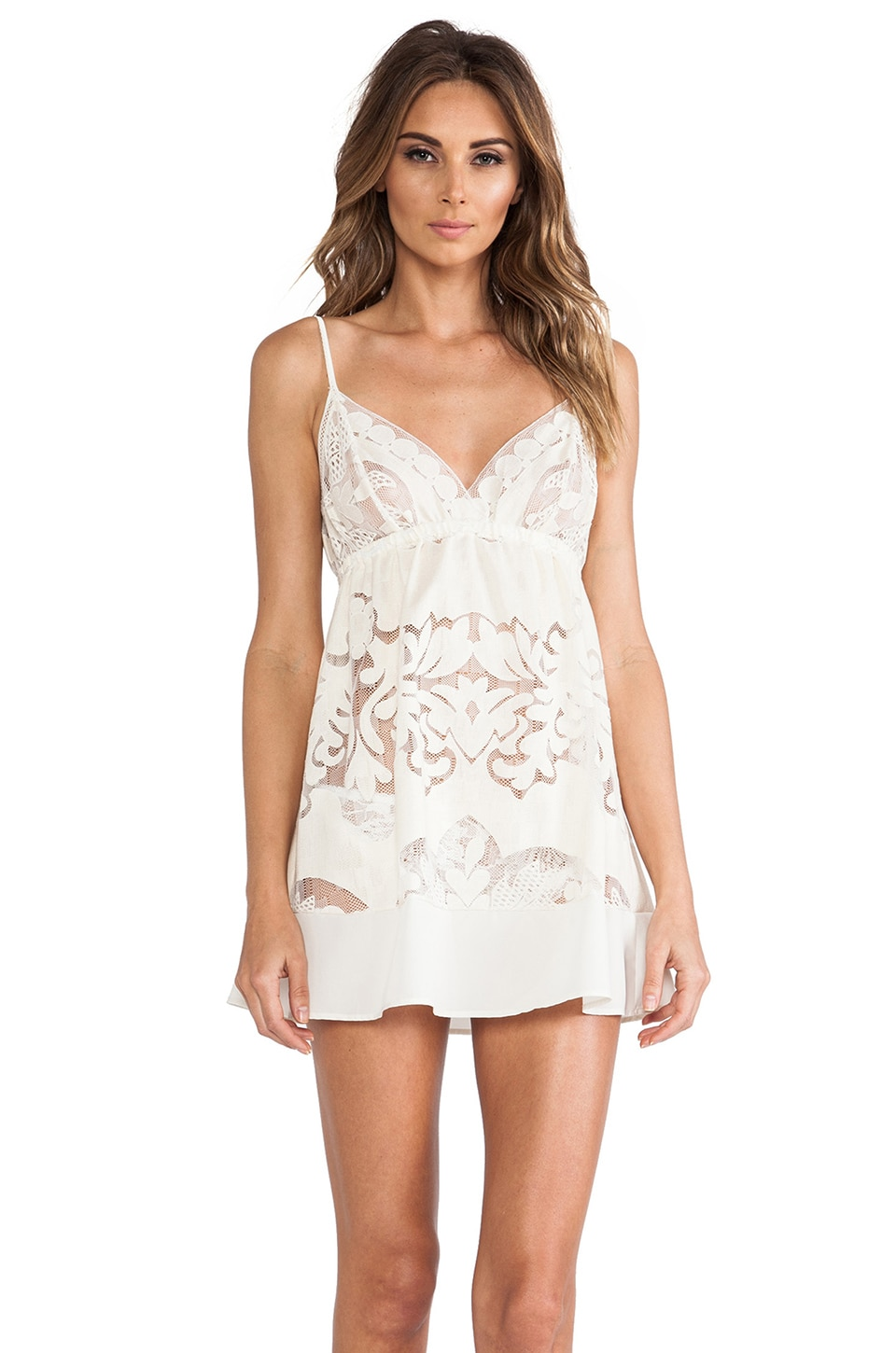 Only Hearts Lace Chemise in Cream