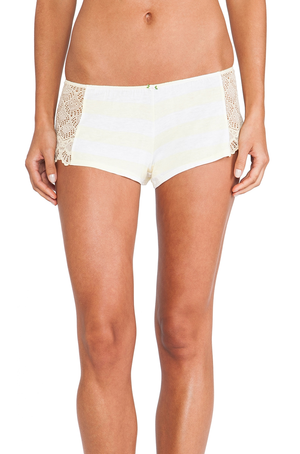 Only Hearts Hipster Lace Short in Mellow Yellow