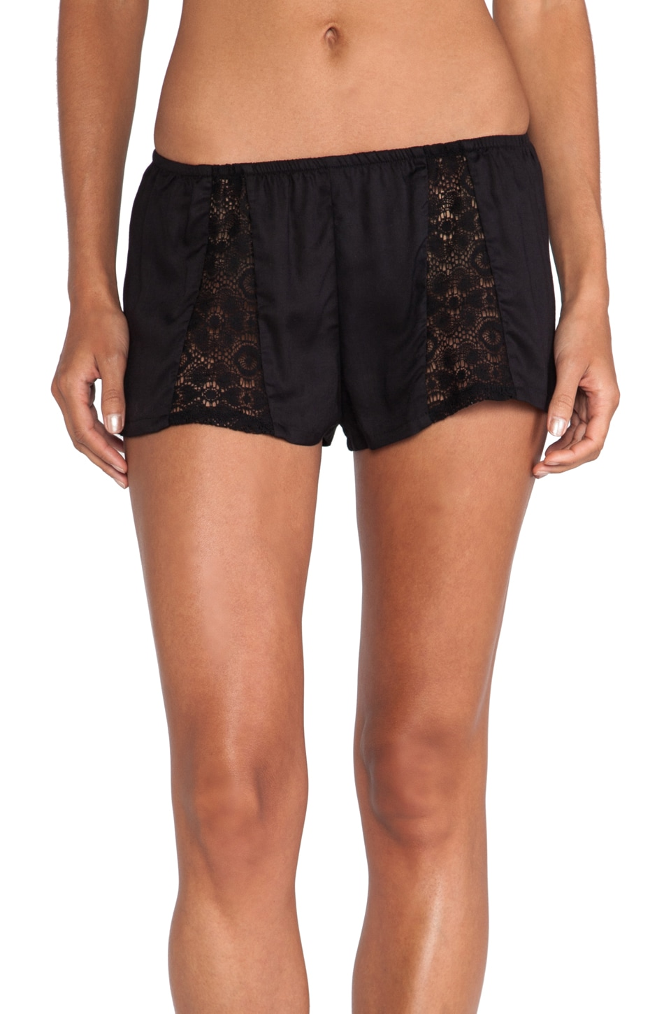 Only Hearts Sleep Shorts in Black