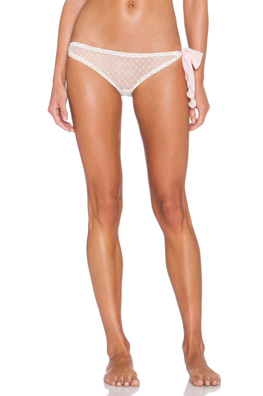 46b04fbf251 Only Hearts Coucou Lola Side Tie Bikini in Creme   Pink