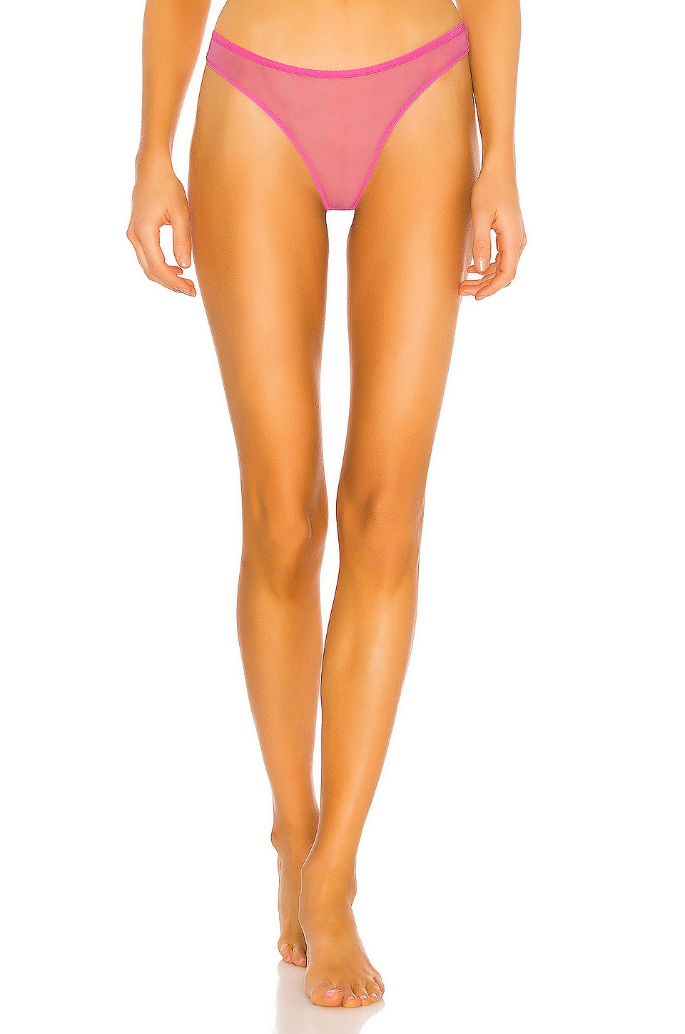 Only Hearts Whisper Basic Thong in Electric Pink