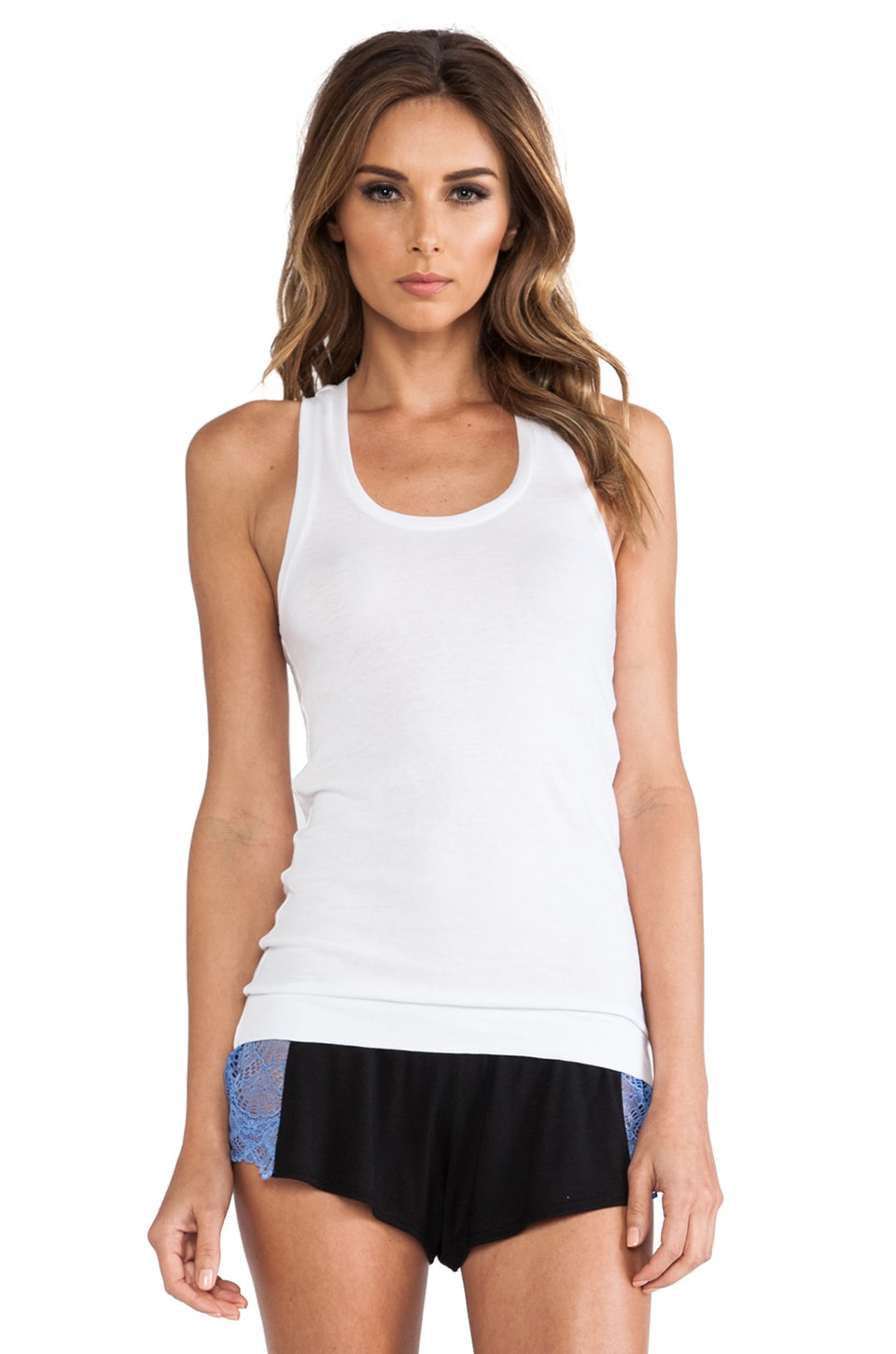Only Hearts Organic Cotton Racerback Tank in White