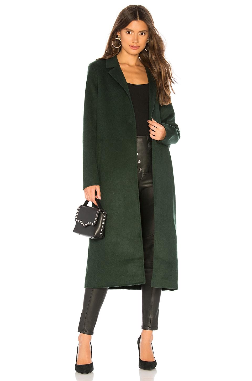 ON PARLE DE VOUS Feutre Coat in Green