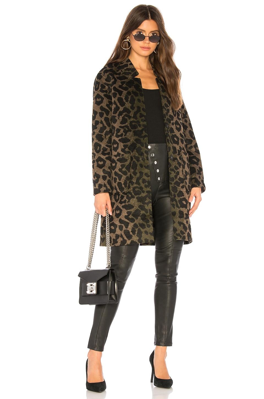 ON PARLE DE VOUS Docile Coat in Khaki Leopard