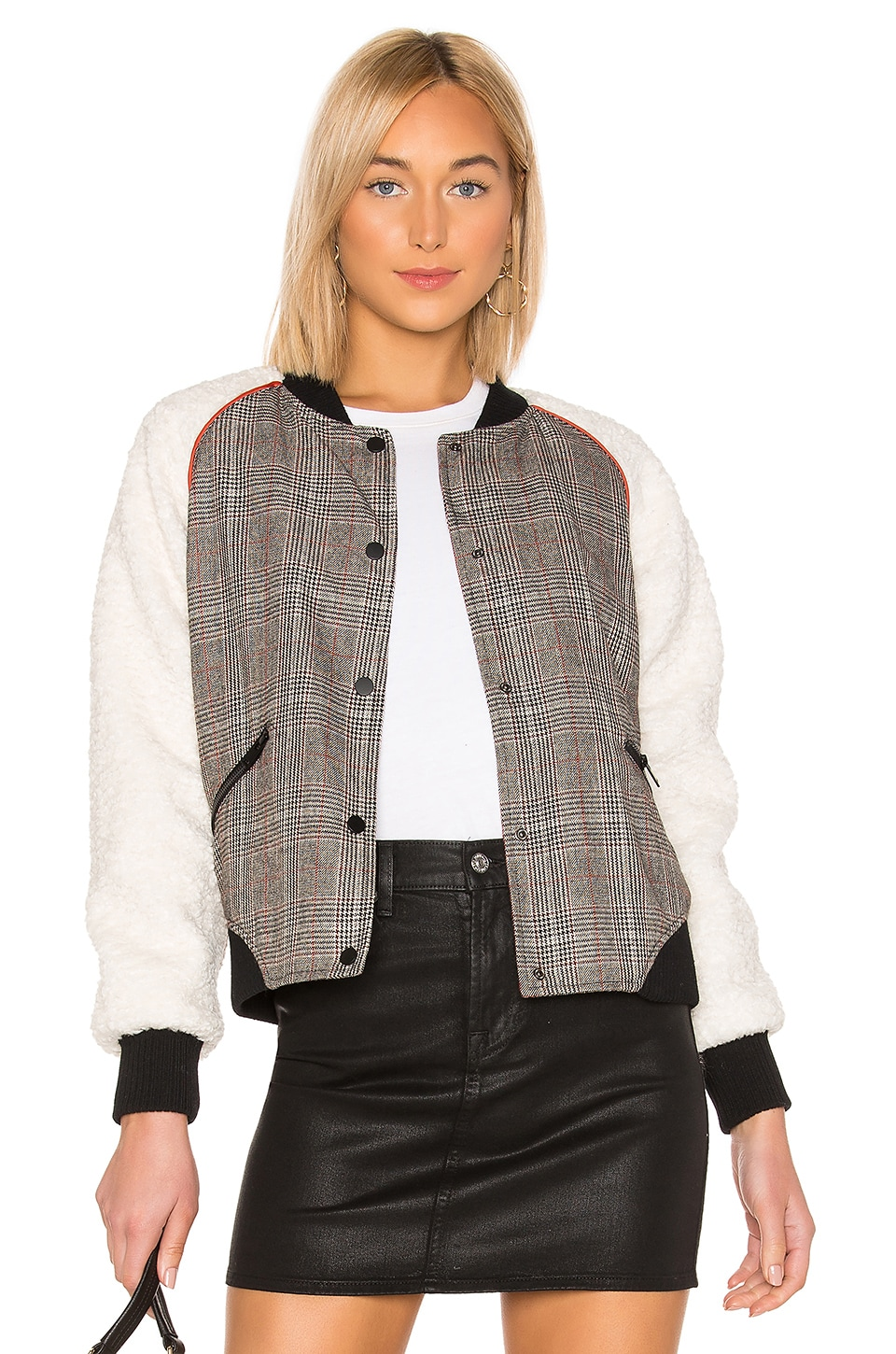 ON PARLE DE VOUS Iris Bomber Jacket in Prince De Galle