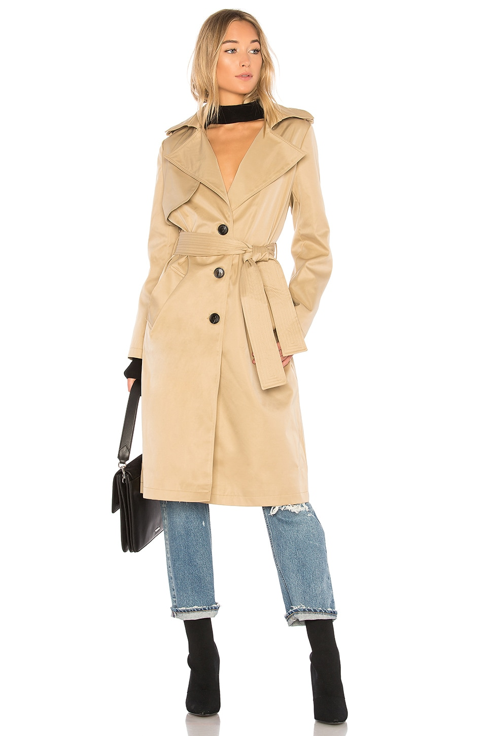 ON PARLE DE VOUS Femme Trench in Beige