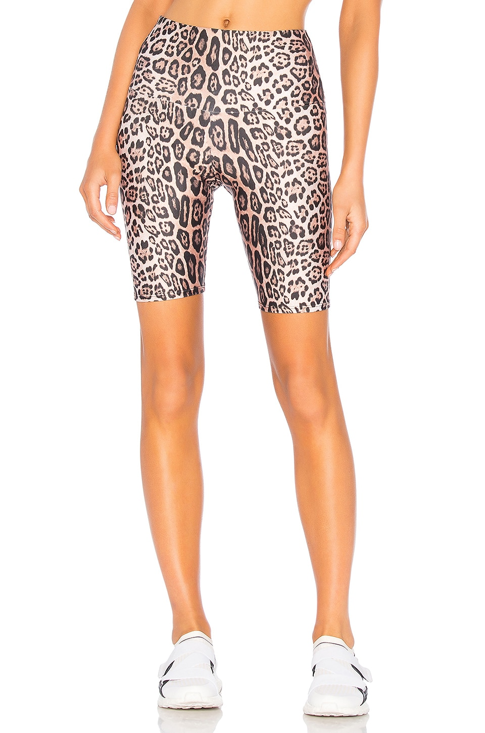 onzie High Rise Bike Short in Leopard