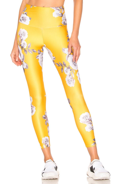 onzie High Basic Midi Legging in Golden Floral