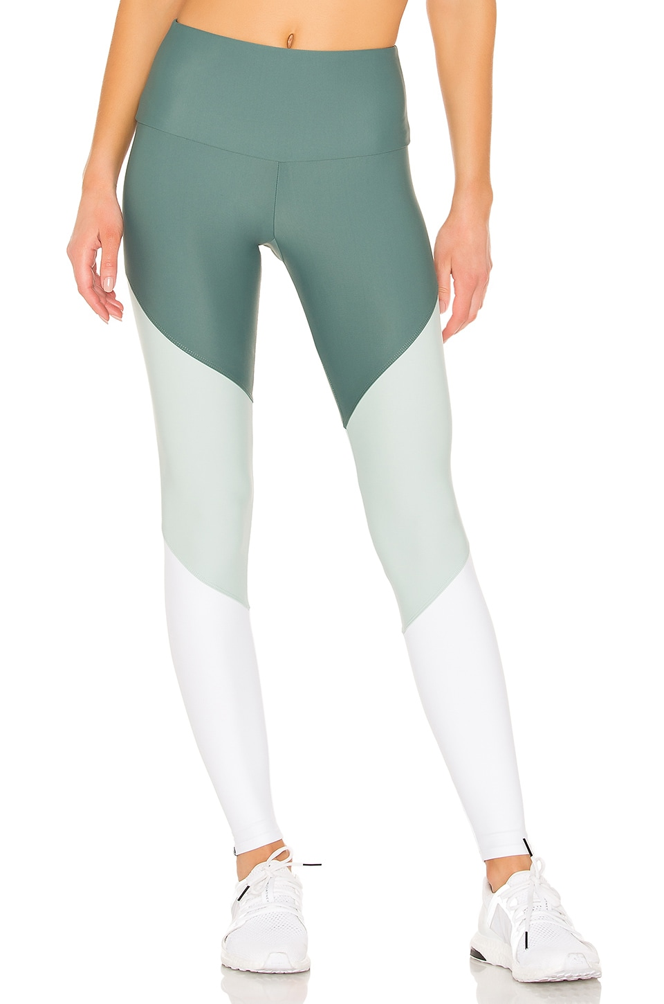 onzie High Rise Track Legging in Pale Cacti Combo