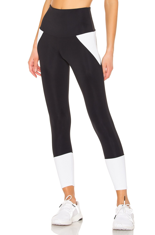 onzie Athletic Midi Legging in Black & White Combo
