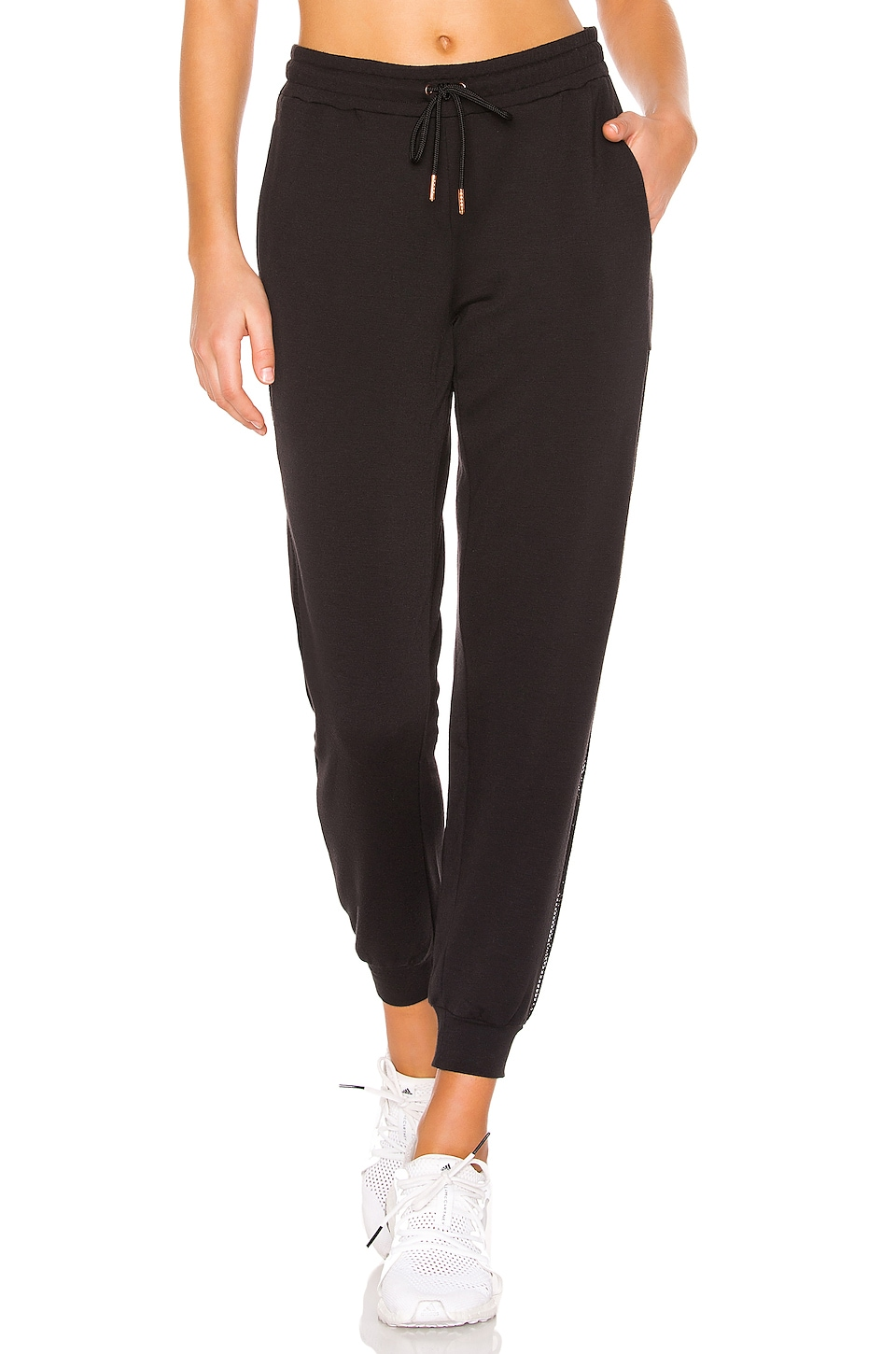 onzie Side Mesh Jogger in Black