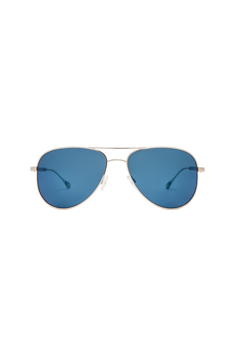 Oliver Peoples WEST Piedra Polarized Sunglasses in Silver & Malibu Mirror