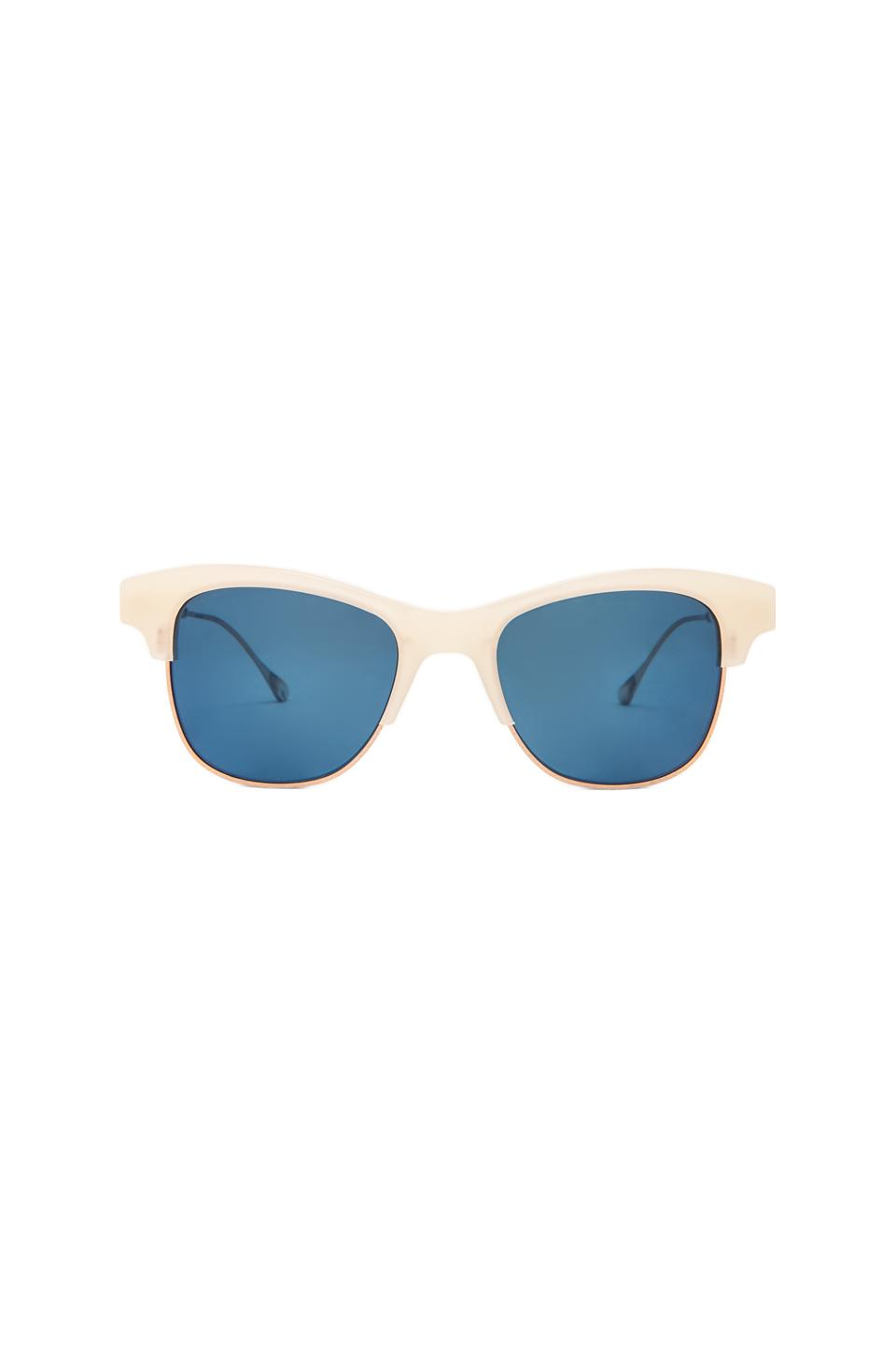 Oliver Peoples WEST Hobson Polarized Sunglasses in Pearl White/Brushed Soft Gold
