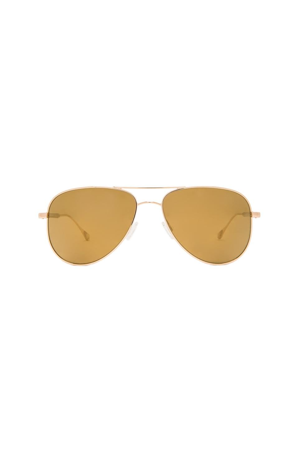 Oliver Peoples WEST Piedra Polarized Sunglasses in Gold & California Gold Mirror