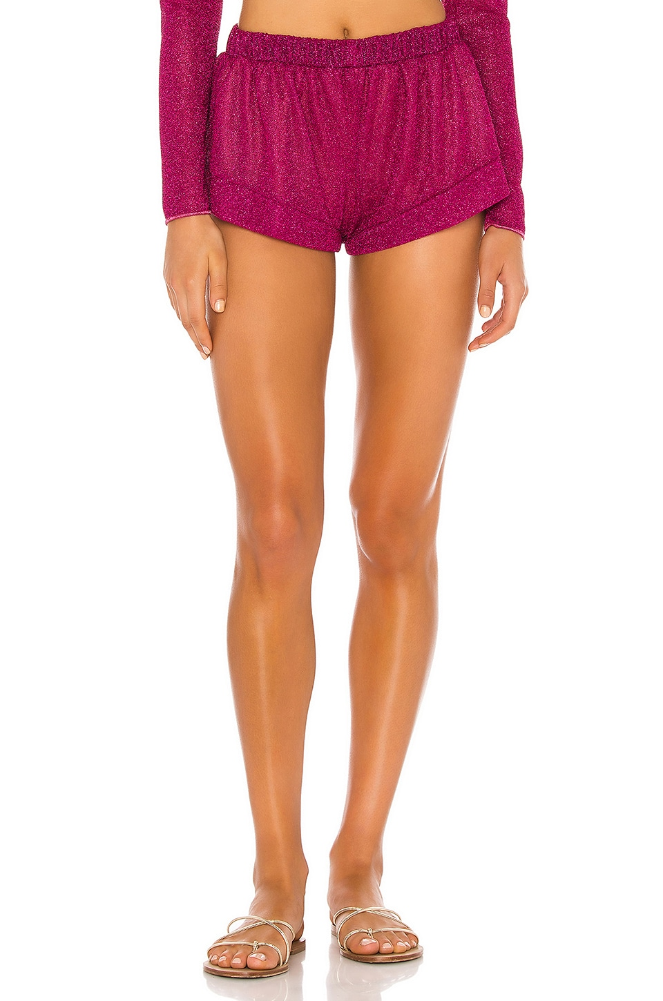 Oseree Lumiere Shorts in Fuschia