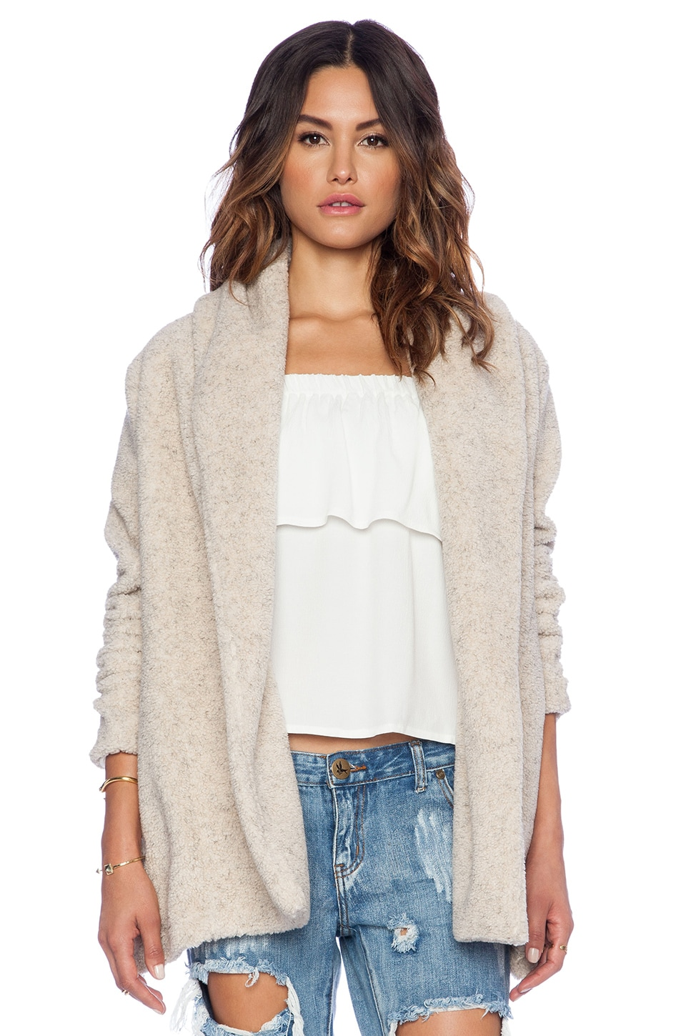 Otis & Maclain Native Faux Shearling Jacket in Shearling