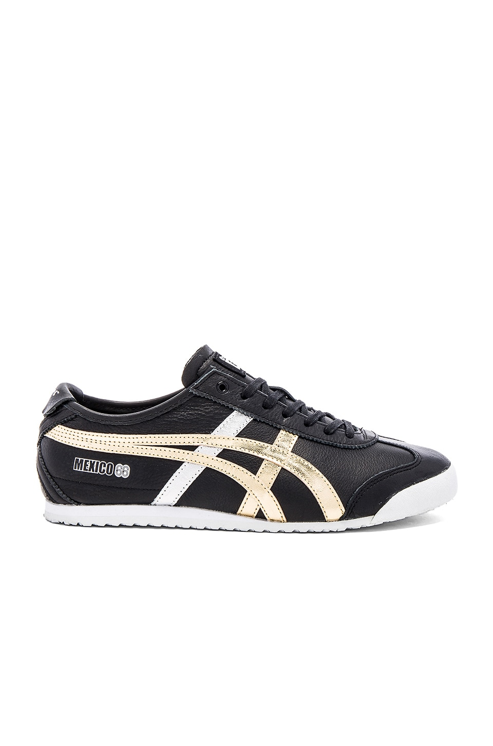 more photos 6082d 4996d Onitsuka Tiger Platinum Mexico 66 in Black Gold | REVOLVE