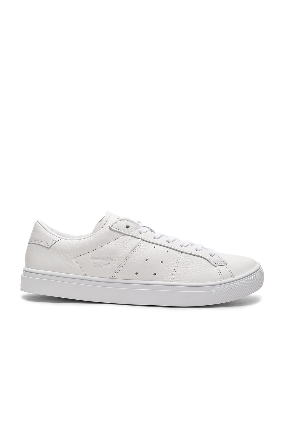 new product 520d9 df864 Onitsuka Tiger Platinum Lawnship 2.0 in White & White | REVOLVE