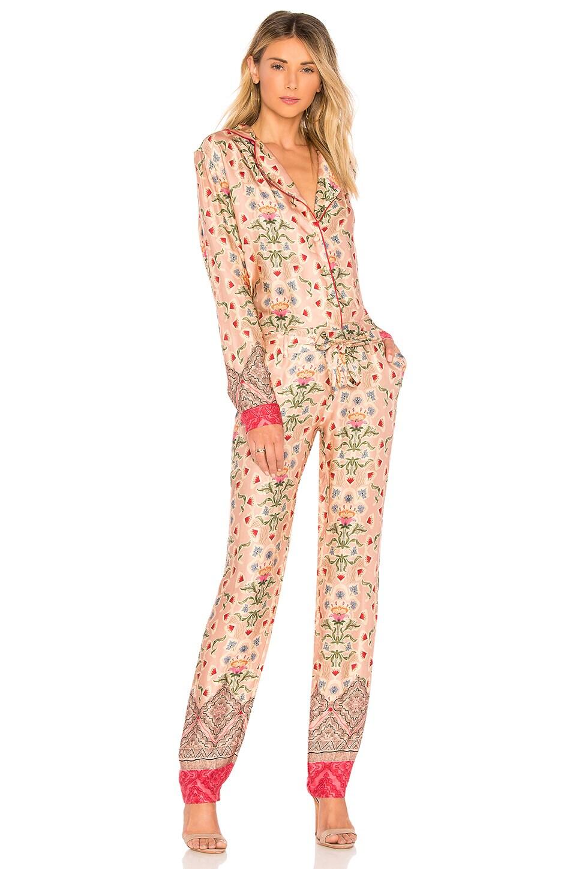 OUD Jade Jumpsuit in Pink Printed