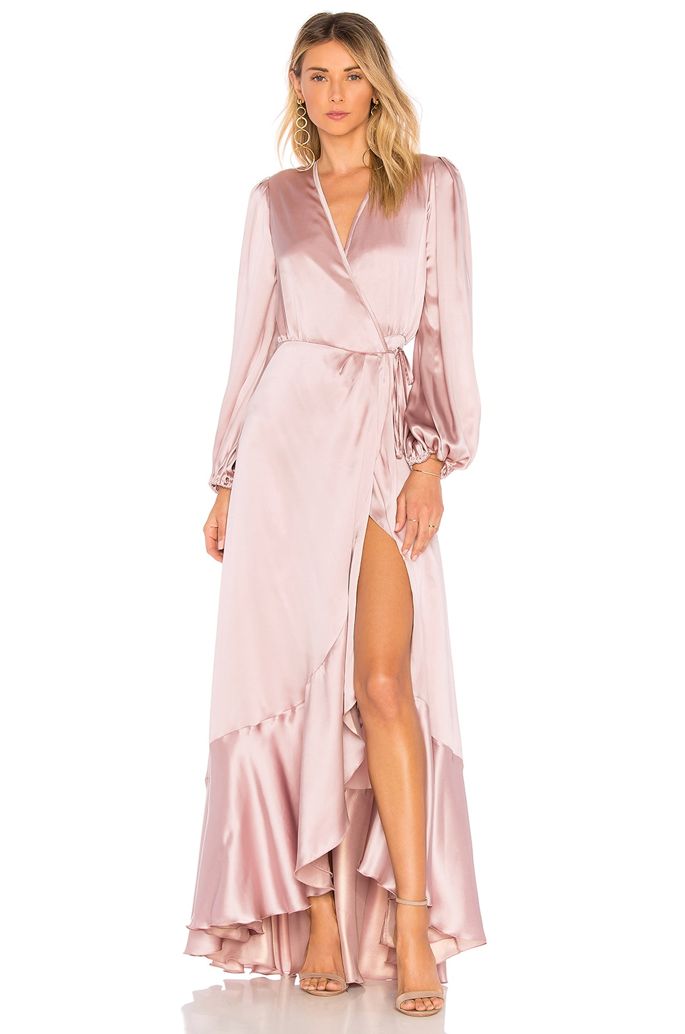 OUD Soho Long Dress in Light Pink | REVOLVE