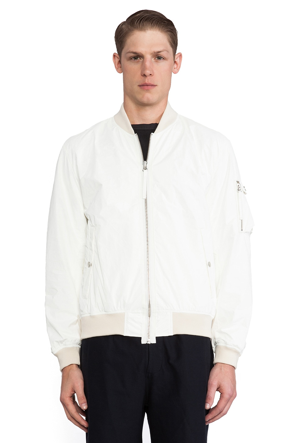 Our Legacy Tyvek Bomber Jacket in White