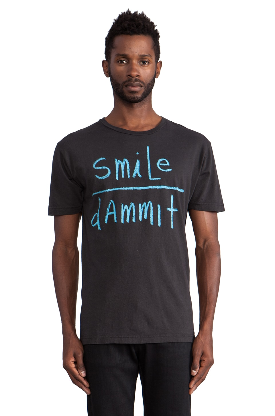 OURS Smile Tee in Black