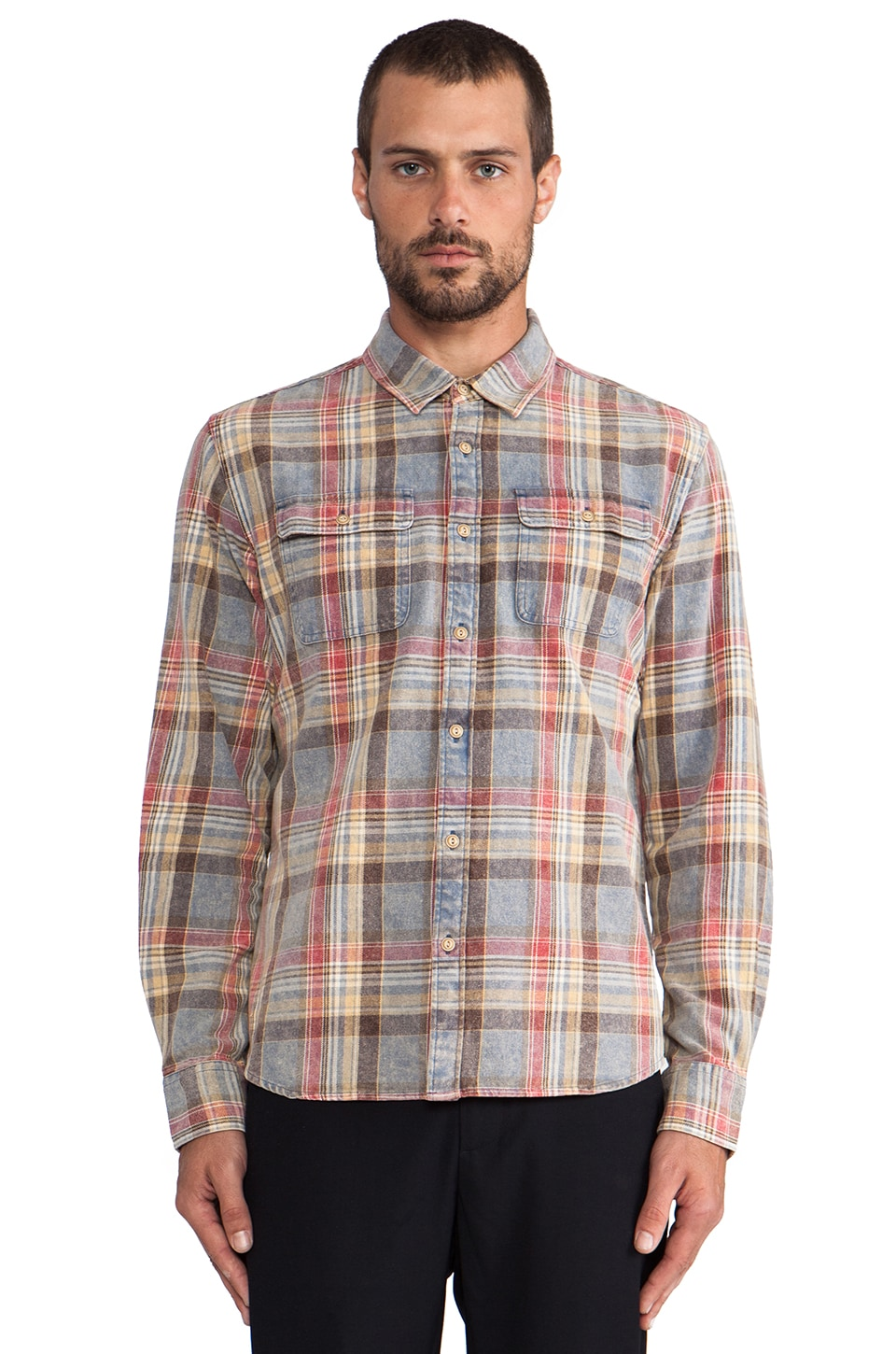 OURS Aloha Flannel in Sky Plaid