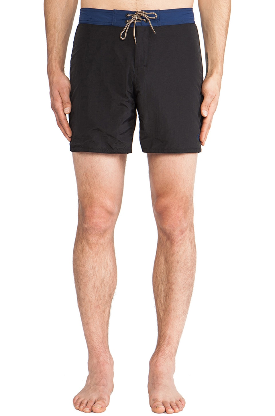 OURS Two Tone Boardshorts in Black & Navy