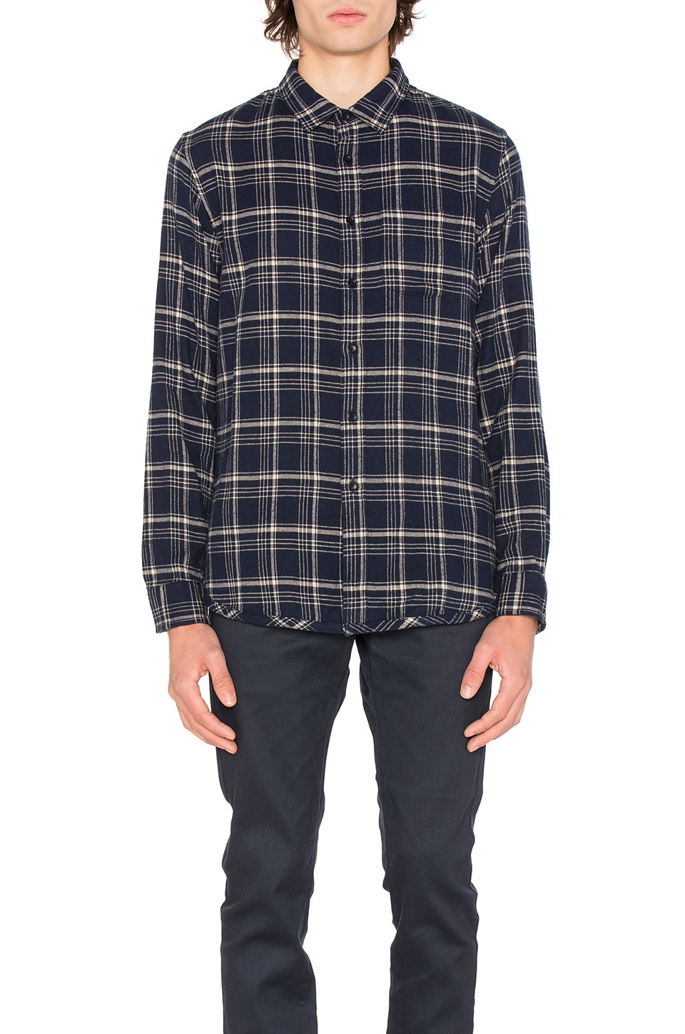 Photo of Eugene Plaid Shirt by OUTERKNOWN men clothes