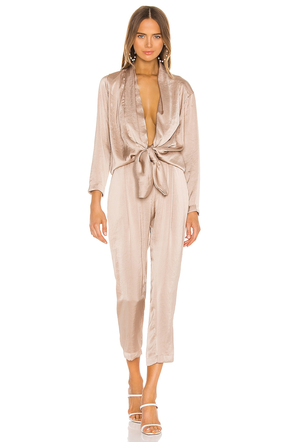 OVERLOVER Stina Jumpsuit in Shell