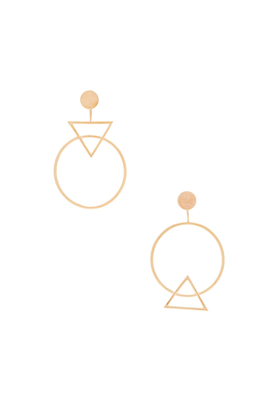Paradigm Futura Earrings in Gold
