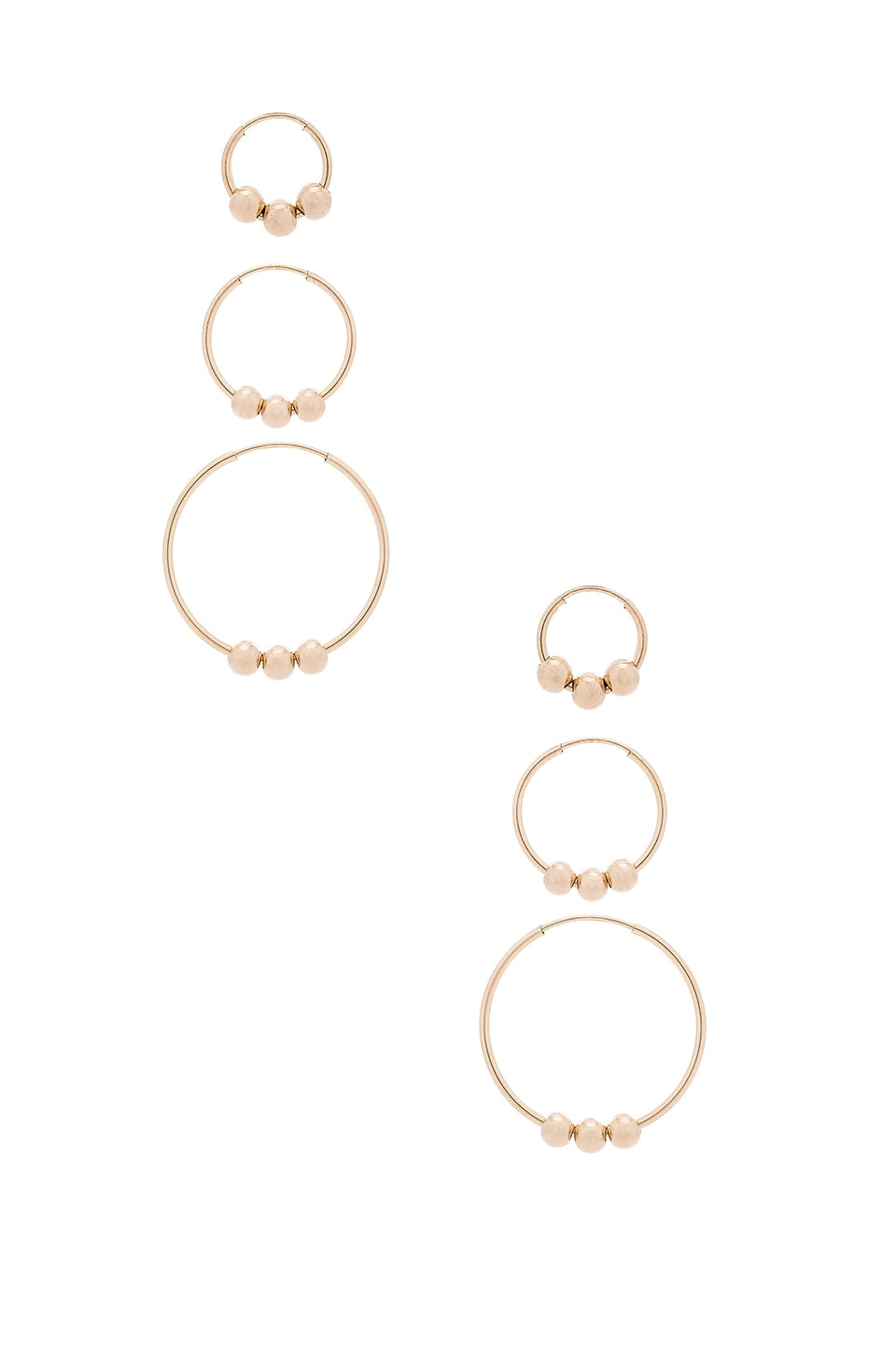 Triple Ball Earring Set