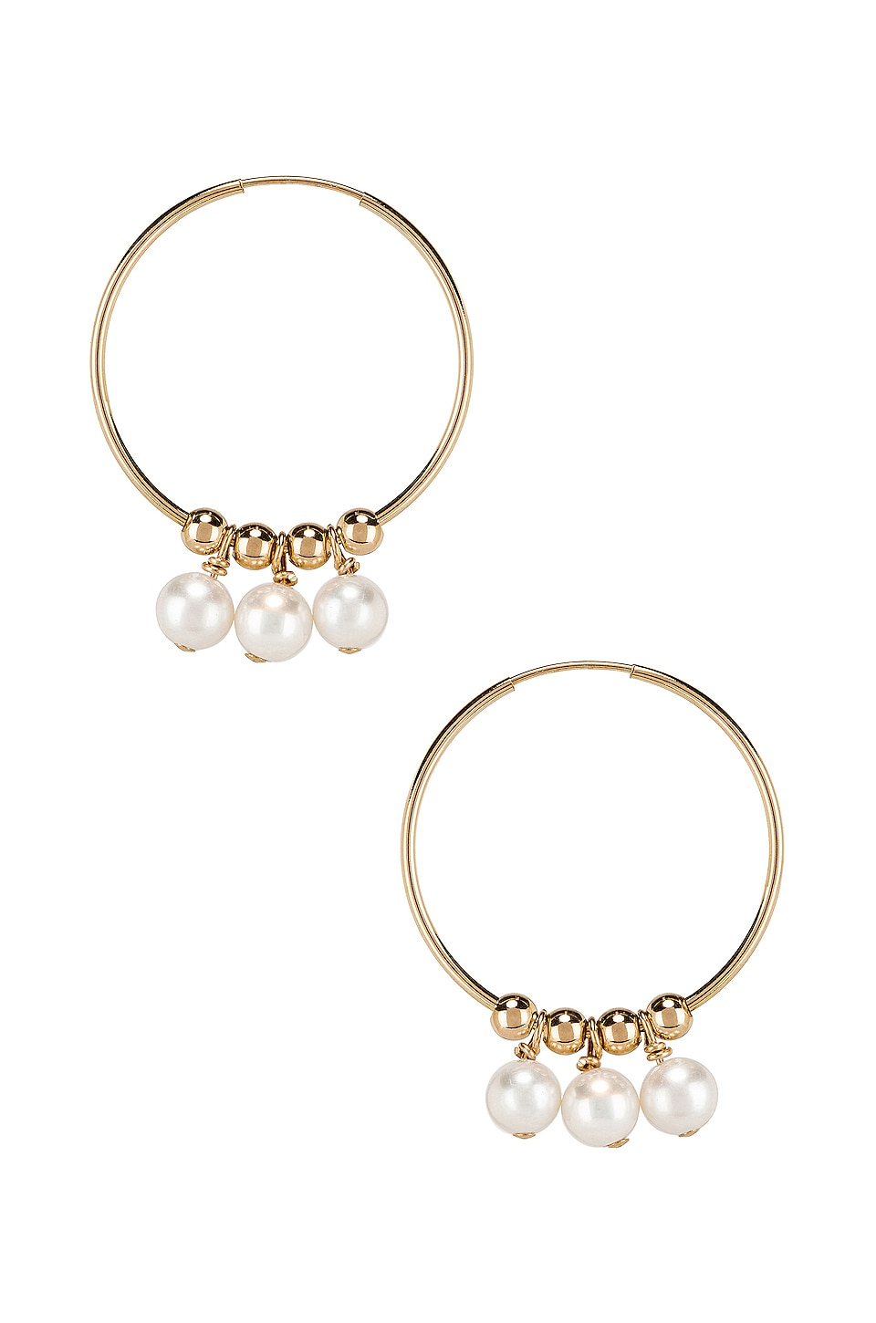 Paradigm Verona Hoops in Gold