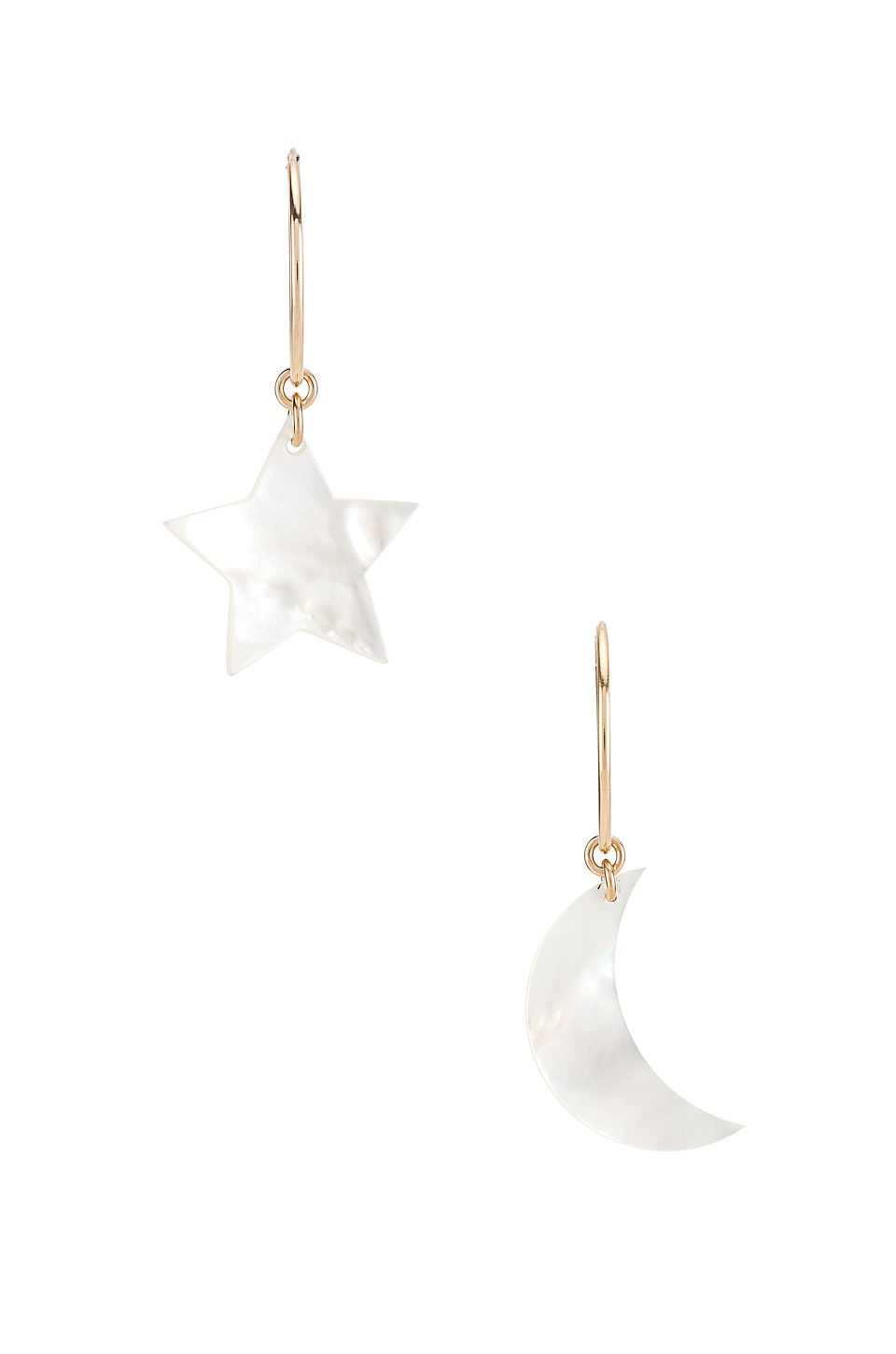 Paradigm Night Sky Hoops in Gold & Mother Of Pearl