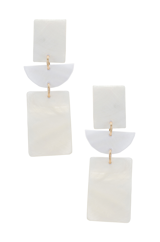 Paradigm Mykonos Earrings in Gold & Mother Of Pearl