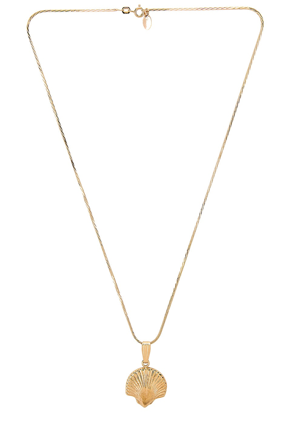 Paradigm Scallop Necklace in Gold