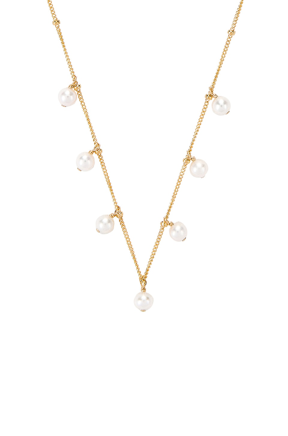 Paradigm Pearl Shaker Necklace in Gold & Pearl