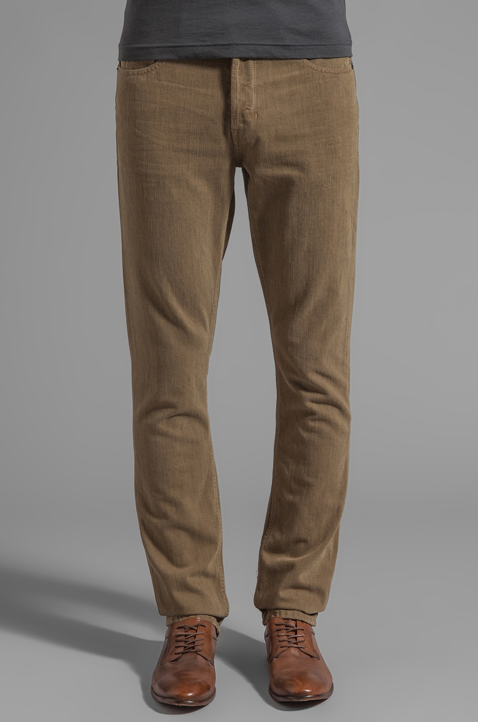 Paige Denim The Eco Buck Series Federal Slim w/ Button Fly in Seed