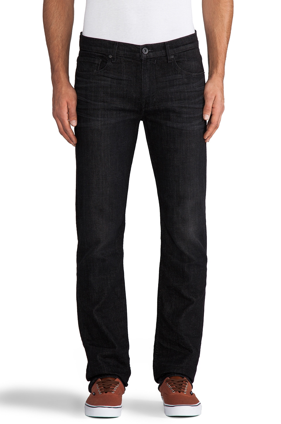 Paige Denim Normandie Slim Straight in Coal Miner