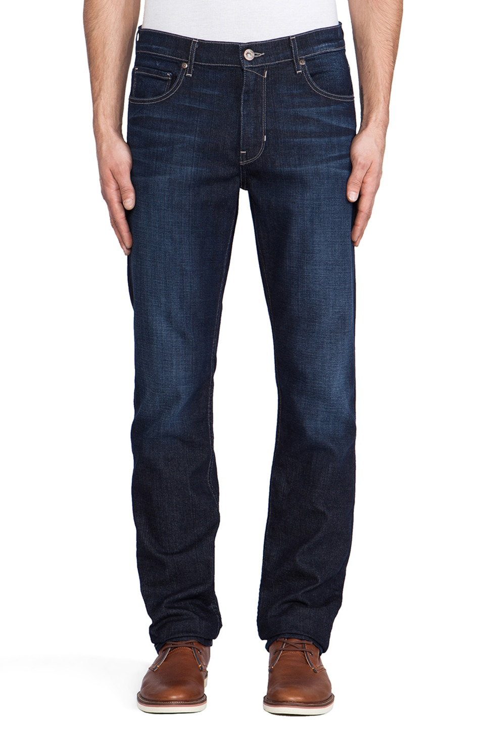 Paige Denim Normandie Slim Straight in Bruiser