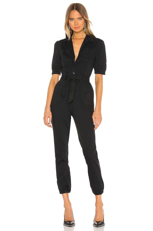 PAIGE Mayslie Jumpsuit in Washed Black