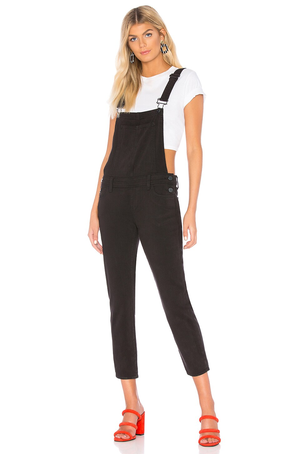 Paige Nellie Overalls In Vintage Black