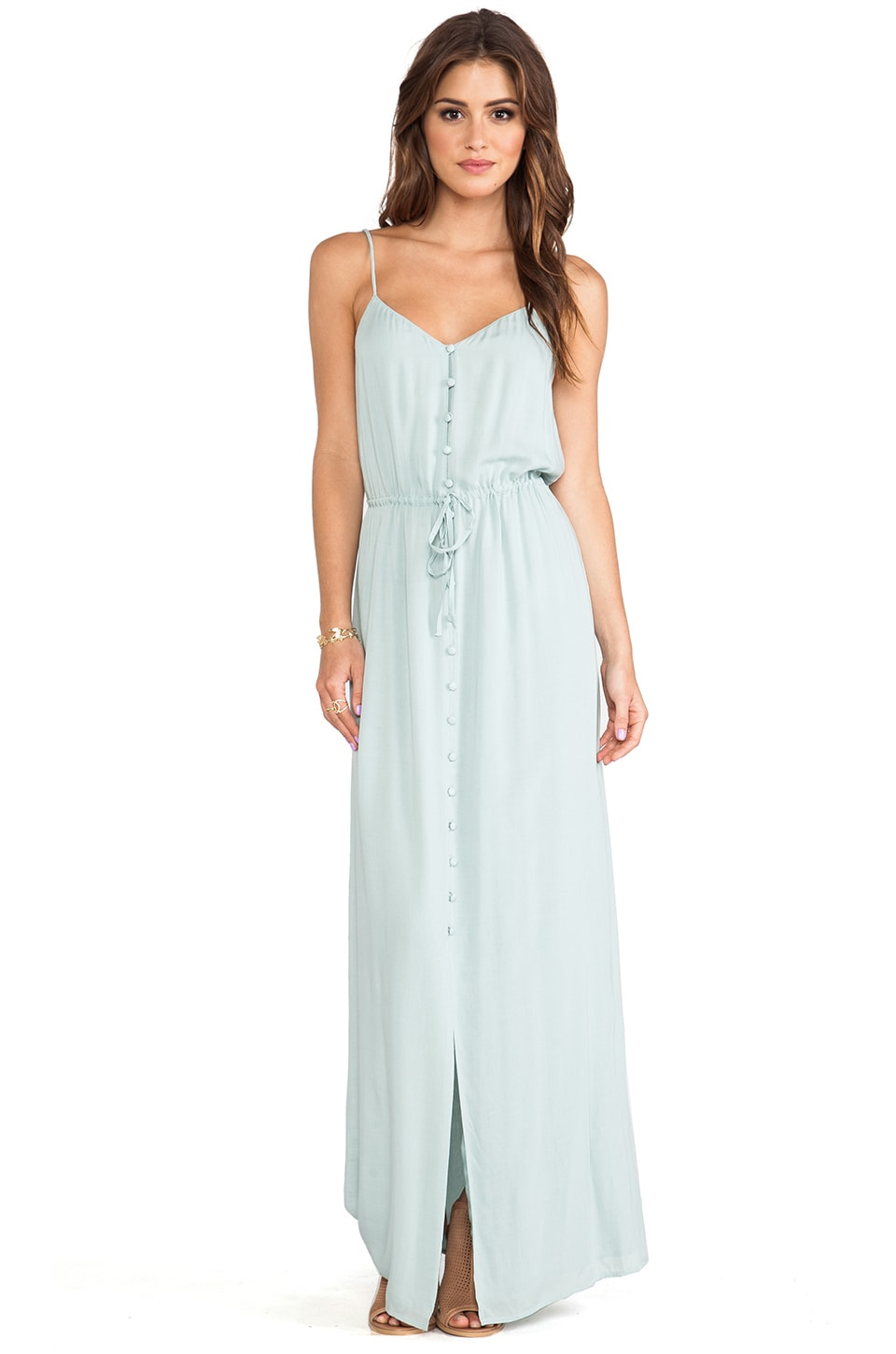 PAIGE Nina Dress in Ocean Mist