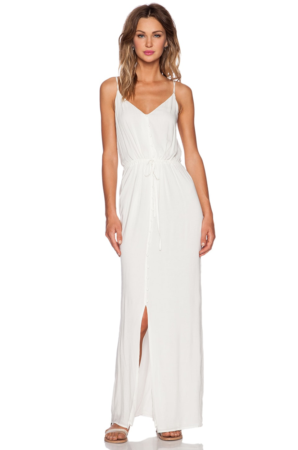 PAIGE Lyssa Dress in White