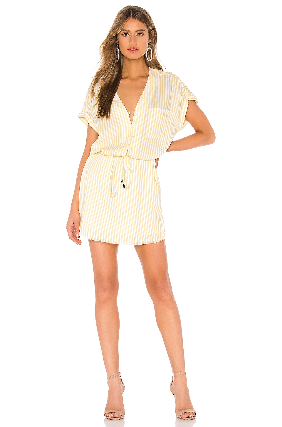 PAIGE Haidee Dress in Surfboard & White