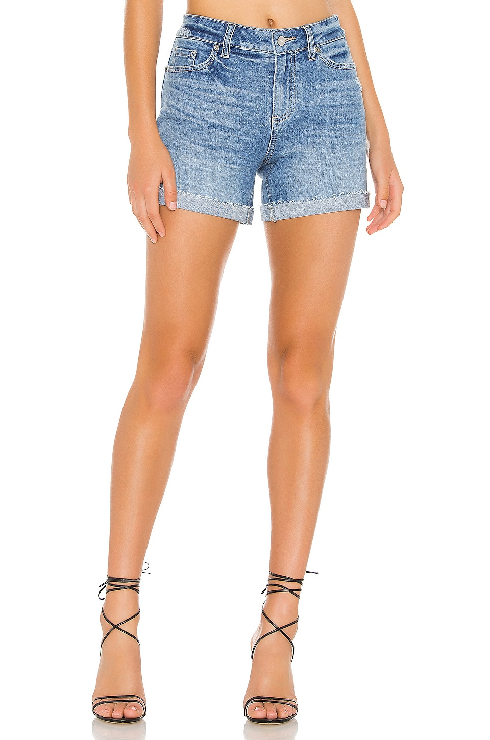 PAIGE Parker Short in Leila Distressed