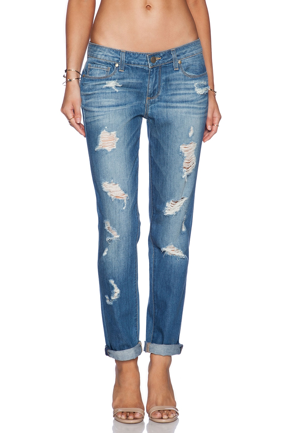 PAIGE Jimmy Jimmy Skinny in Delilah Destructed